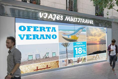 Agencia-viajes-cerrada-fachada-interactiva